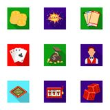The set of symbols casino games. Gambling for money. Chips, dominoes, casino. Casino and gambling icon in set collection Stock Photography