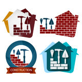 Set of symbols for construction Royalty Free Stock Images