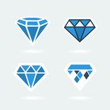 Set of symbols diamond Stock Image