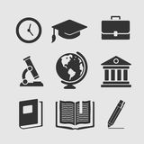 Set of symbols education Stock Photo