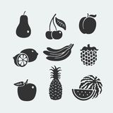 Set of symbols fruit Stock Photo