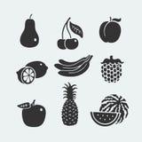 Set of symbols fruit Stock Photo