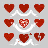 Set of symbols heart Royalty Free Stock Image