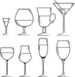 Set of symbols and icons glasses Royalty Free Stock Image