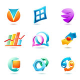 Set of symbols and icons Royalty Free Stock Photography