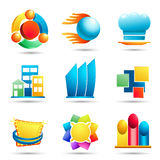 Set of symbols and icons Stock Images