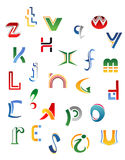 Set of symbols, letters and icons Royalty Free Stock Image