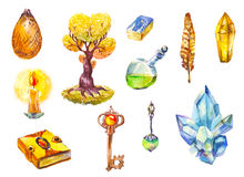 A set of symbols of magic. Royalty Free Stock Images