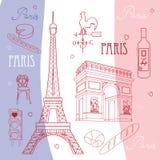 Set of symbols of Paris Royalty Free Stock Photography