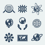 Set of symbols planet earth Royalty Free Stock Image
