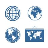 Set of symbols Planet Royalty Free Stock Images