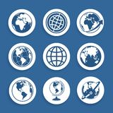 Set of symbols Planet Royalty Free Stock Photography