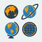 Set of symbols Planet Royalty Free Stock Photos