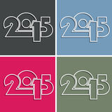 Set of symbols 2015 year can by used for greeting card design. Calendar vector illustration