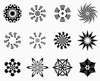 Set of symmetric geometric shapes Stock Images