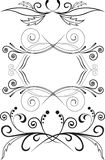 Set of symmetric ornaments Royalty Free Stock Photography