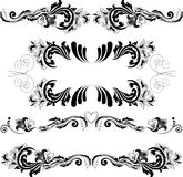 Set of symmetric ornaments 2 Royalty Free Stock Photos