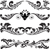 Set of symmetric ornaments 3 Royalty Free Stock Image