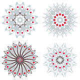Set of symmetric  trichromatic patterns. Stock Photos