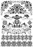 Set symmetrical black pattern is insulated Royalty Free Stock Photography