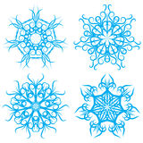 Set of symmetrical patterns. Snowflakes or flowers Stock Photography