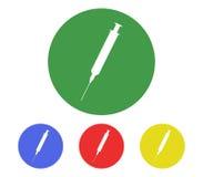 Set of syringe icons illustrated Royalty Free Stock Image