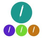 Set of syringe icons illustrated Royalty Free Stock Photo