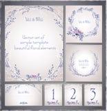 Set szablon karty dla świętowania Zdjęcia Stock