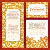 Set szablon pocztówki, broszurki, ulotki lub Ilustracji