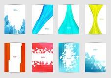 Set szablon pokrywy dla ulotki, broszurka, sztandar, ulotka, książka, A4 rozmiar Okładkowy układu projekt Zdjęcia Stock