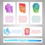 Set szablony dla broszurek, wizytówki Ilustracja Wektor