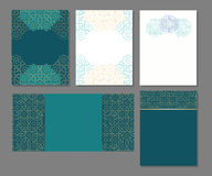 Set szablony w języku arabskim Obraz Stock