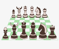 Set szachowych kawałków wektoru ilustracja Zdjęcie Stock