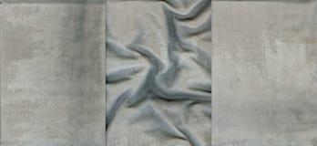 Set szare zamszowy skóry tekstury Zdjęcie Royalty Free