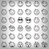 Set szarzy uśmiechy Fotografia Royalty Free