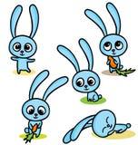 Set szczęśliwi Easter króliki Zdjęcia Royalty Free
