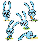 Set szczęśliwi Easter króliki royalty ilustracja