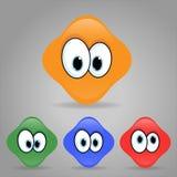 Set szczęśliwi emoticons Fotografia Royalty Free
