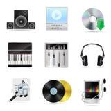 Muzykalne ikony ilustracji