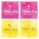 Set Szczęśliwy Mothers dnia szablonu karty tło Obraz Royalty Free
