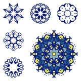 Set sześć mandalas obraz stock
