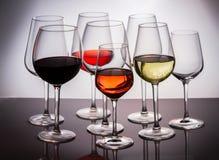 Set szkła z winem Zdjęcie Royalty Free