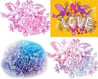 Set szkicowy miłość Fotografia Stock