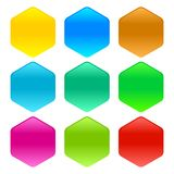 Set szklana strona internetowa zapina bez teksta w wiele kolorów ilustracji zdjęcie stock