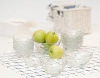 Set szklani naczynia Zdjęcie Royalty Free
