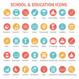 Set szkoły i edukaci ikony ilustracji