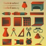 Set szkoły i edukaci przedmioty Obraz Royalty Free