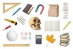 Set szkolni przedmioty Obrazy Royalty Free