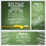 Set szkolni sztandary - różna strona internetowa ilustracja wektor