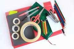 Set szkolny i biurowy materiały Zdjęcie Stock